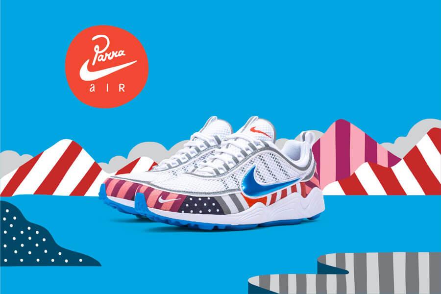 Прекрасное в обыденном: 11 современных художников и их работы для брендов кроссовок - Nike Air Max 1 x Parra